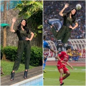 Raisa Kangen Manggung Minta Netizen Edit Fotonya di GBK, Hasilnya Kocak Abis!