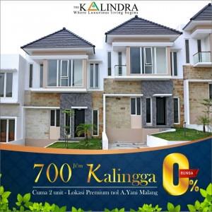 Town House Bunga KPR 0% di The Kalindra Malang Tinggal 2 Unit, Grab it Fast!