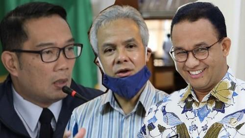 Elektabilitas Ridwan Kamil-Ganjar Pranowo Naik, Anies Baswedan Malah Turun