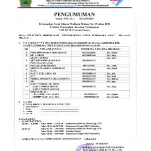 Layanan Adminduk Via Chatting WA, Dispendukcapil Kota Malang Sebar Nomor di Lokasi Ini