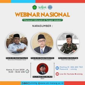 Adakan Webinar Nasional, UIN Malang Rekatkan Dua Ormas Terbesar NU dan Muhammadiyah