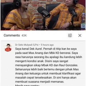 Respons Klarifikasi KD di Channel Deddy Corbuzier, Kak Seto Salah Tulis Nama Raul Lemos