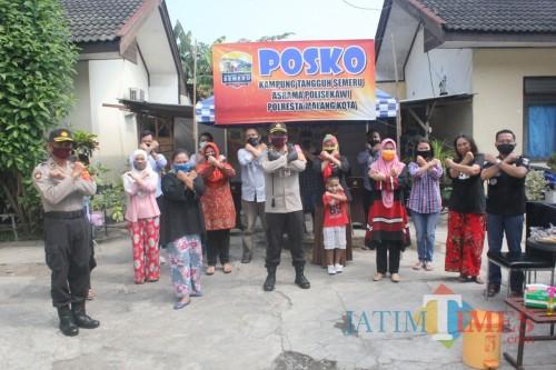 Kapolresta Malang Kota Kombespol Leonardus Simarmata saat me-launching Aspol Tangguh di Aspol Kawi. (Anggara Sudiongko/MalangTIMES)