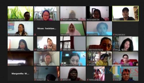 Pelatihan Online ToT Gernas Tastaka Tahap I. (Foto: istimewa)