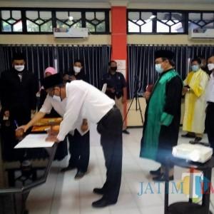 KPU Kabupaten Kediri Lantik Petugas PPS Online