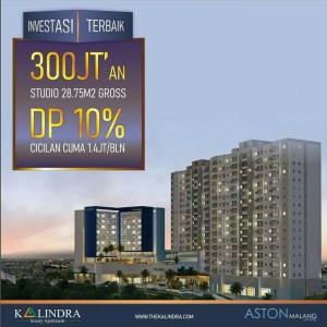 Ambil Sebelum Juni Berakhir! Promo Apartemen The Kalindra Malang Cicilan Cuma 1,2 Juta-an