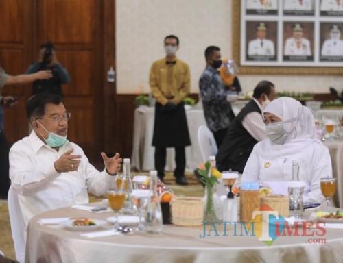 Penanganan Covid-19 di Jatim, JK Inginkan Peningkatan Koordinasi Gubernur dan Wali Kota