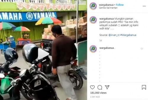 Juru parkir viral (Foto: IG wargabanua)