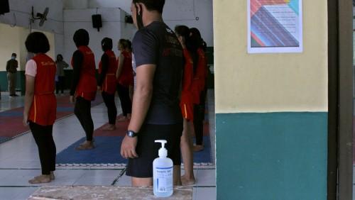 KONI Kota Kediri mulai latih para atlet dan terapkan protokol kesehatan Covid-19. (Foto: Istimewa)