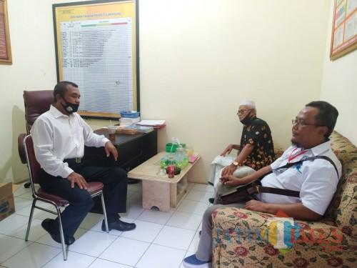 Heri Widodo saat berada di Satreskrim Polres Tulungagung / Foto : Anang Basso / Tulungagung TIMES