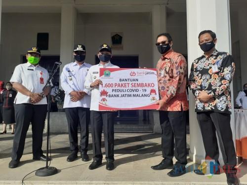 Bank Jatim Bantu 1.600 Paket Sembako, Pemkot Malang Prioritaskan Kampung Tangguh