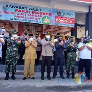 Launching Pasar Tangguh, Wali Kota Santoso Dorong Angka Penyebaran Covid-19 Terus Turun