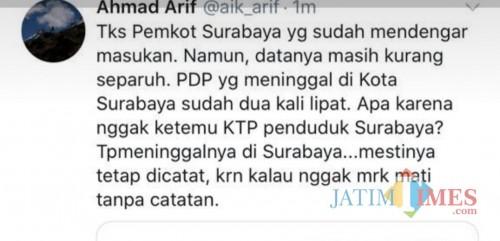 Data Kematian PDP Kota Surabaya Dipertanyakan, Ahmad Arif: Itu Masih Separuhnya