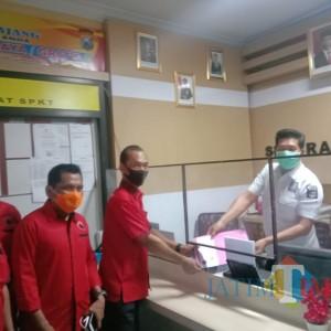 DPC PDI Perjuangan Lumajang, Laporkan Pembakaran Bendera Partainya