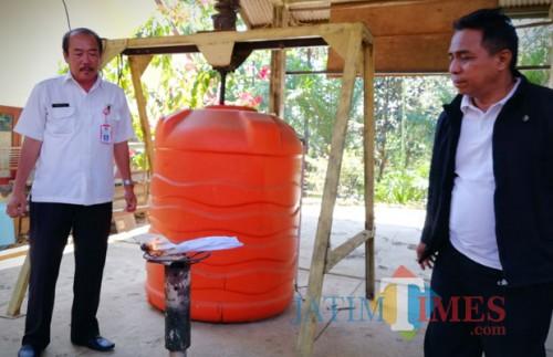 Biogas yang terdapat di TPA di Desa Tlekung (Foto: MalangTIMES)