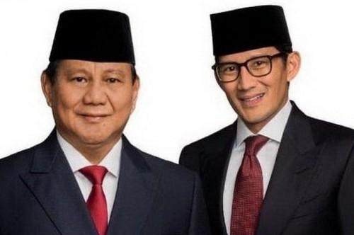 Prabowo Subianto dan Sandiaga Uno (Foto:  Suar.id )