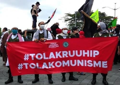 Demo tolak RUU HIP. (Foto:Pikiran Rakyat Depok)
