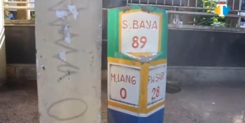 Salah satu titik nol kilometer Kota Malang (Ahnad Nur Amin/MalangTIMES).