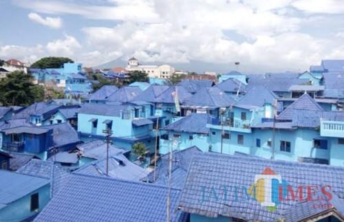 Kampung biru, salah satu kampung tematik di Kota Malang (dokumentasi MalangTIMES).