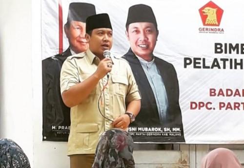 Ketua DPC Partai Gerindra Kabupaten Malang, Chusni Mubarok saat memberikan pemaparan dalam suatu acara. (Foto: Instagram chusnibootes)