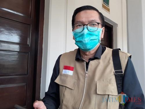 Juru Bicara Gugus Satgas Covid-19 yang juga Kabid Pencegahan dan Pengendalian Penyakit (P2P) Dinkes Kota Malang dr Husnul Muarif. (Arifina Cahyanti Firdausi/MalangTIMES).