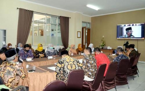 Temu alumni Fakultas Ekonomi UIN Malang secara virtual. (Foto: Humas)