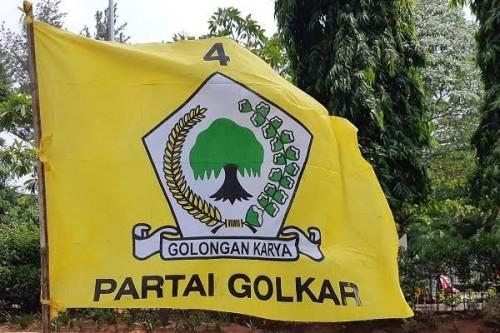 Ilustrasi Bendera Partai Golkar. (Foto: Istimewa)