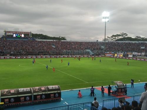 Stadion Kanjuruhan yang akan kembali digunakan menggelar pertandingan kandang Arema FC (Hendra Saputra)