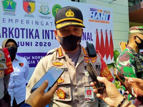 Kapolres Malang Kota, Kombes Pol Leonardus Simarmata (Anggara Sudiongko/MalangTIMES)