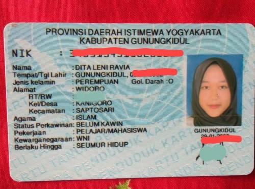 KTP Dita Leni Ravia (Sumber foto: dok.pribadi Detik.com)