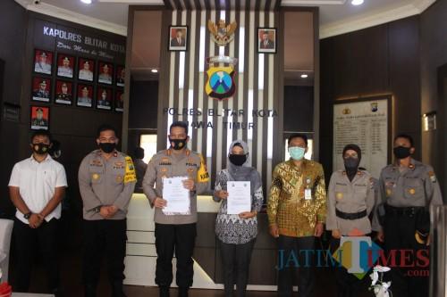 Polres Blitar Kota gandeng LPPM Unisba Blitar dalam laksanakan survey ITK Polri