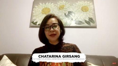 Staf Ahli Menteri Bidang Regulasi Pendidikan dan Kebudayaan Kemendikbud, Chatarina M. Girsang. (Foto: Kemendikbud)