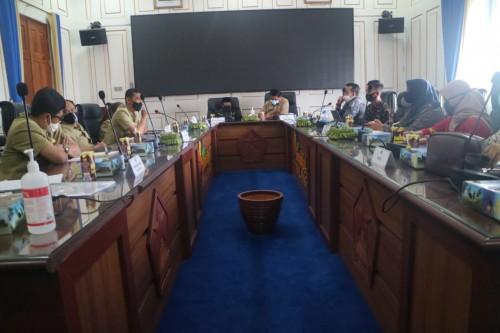 Suasana pertemuan antara perwakilan vendor acara pernikahan bersama Wali Kota Malang Sutiaji, Selasa (7/7). (Foto: Humas Pemkot Malang).