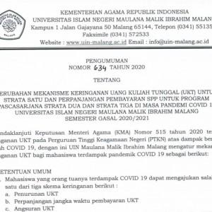 Tindaklanjuti Keputusan Menag, Rektor UIN Malang Rilis Pengumuman Keringanan UKT Terbaru