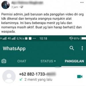 Terima Video Call dari Nomor Tak Dikenal, Wanita Ini Malah Jadi Korban Pelaku Pornoaksi