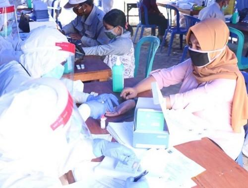Positif Covid-19 11 Kasus, 257 Orang Dirapid dan Swab Test di Desa Mojorejo