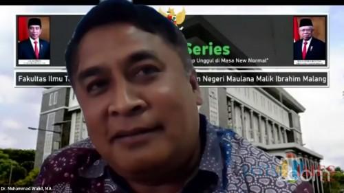 Pakar Pendidikan dari Universitas Islam Negeri Maulana Malik Ibrahim (UIN Malang) Dr Muhammad Walid MA. (Foto: Ima/MalangTIMES)