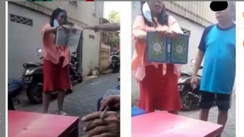 Wanita ngaku Yahudi hingga ancam robek Al Qur'an (Foto: facebook)