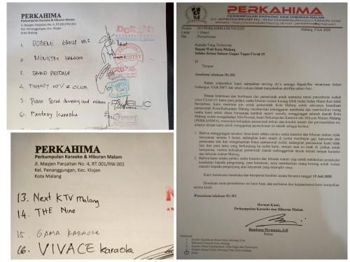 Surat permohonan percepatan buka yang dikirimkan pada pihak Pemkot (Anggara Sudiongko/MalangTIMES)