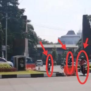 U-turn Jalan Veteran Jadi Langganan Pelanggar Lalin, 1 Jam 20 Pengendara Lawan Arus