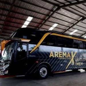 Arema FC Tampil dengan Bus Baru saat Musim Liga 1 2020
