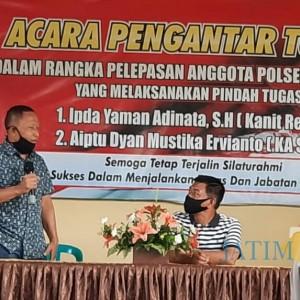 Polsek Gambiran Polresta Banyuwangi Gelar Pelepasan Anggota yang Pindah Tugas