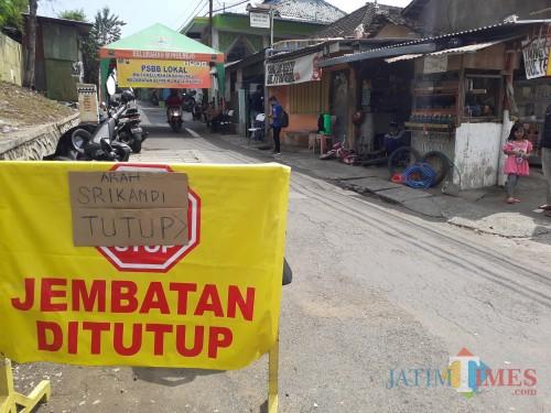 Giliran Jalan Binor Kelurahan Bunulrejo Terapkan Lockdown Lokal