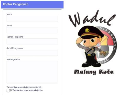 Aplikasi wadul polisi yang akan segera dilaunching (Ist)