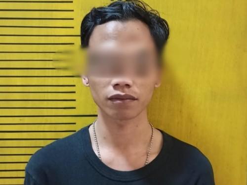 Pelaku yang telah diamankan di Polsek Lowokwaru (Ist)