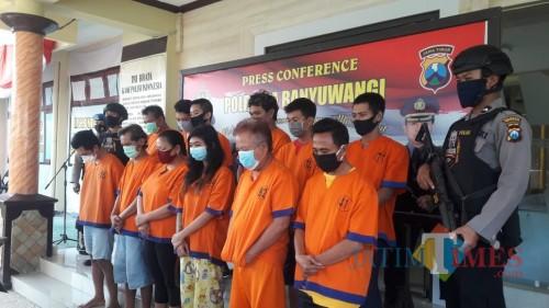 43 Hari Polresta Banyuwangi Ringkus 36 Pengedar dan Pengguna Narkoba