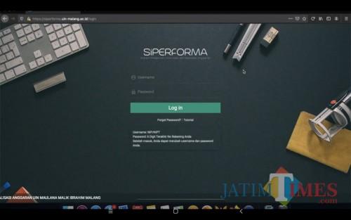 SiPERFORMA (Sistem Pelaporan, Informasi, dan Realisasi Anggaran). (Foto: istimewa)