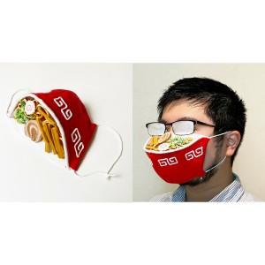 Sensasi Makan Ramen Hanya dengan Pakai Masker, Bisa Kenyang Juga Nggak Ya?
