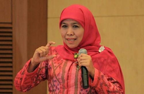 Gubernur Jawa Timur  Khofifah Indar Parawansa (Foto:  Minews ID)