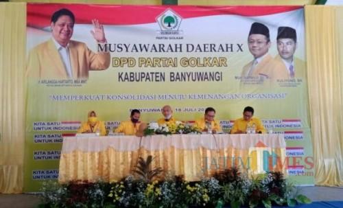 Terpilih secara Aklamasi, Ruliyono Duduki Kursi Ketua DPD Golkar Banyuwangi